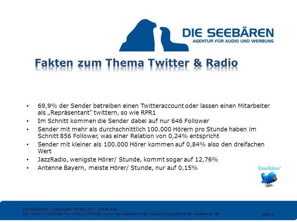 Fakten zum Thema Twitter & Radio