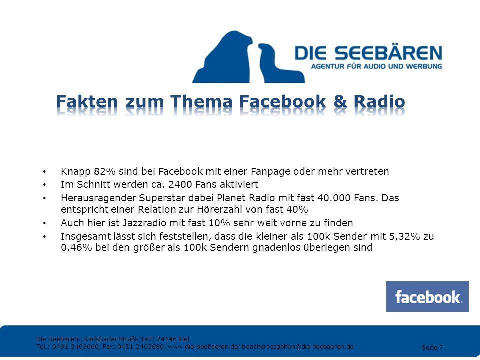 Fakten zum Thema Facebook & Radio