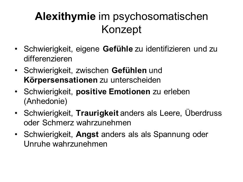 Alexithymie im psychosomatischen Konzept