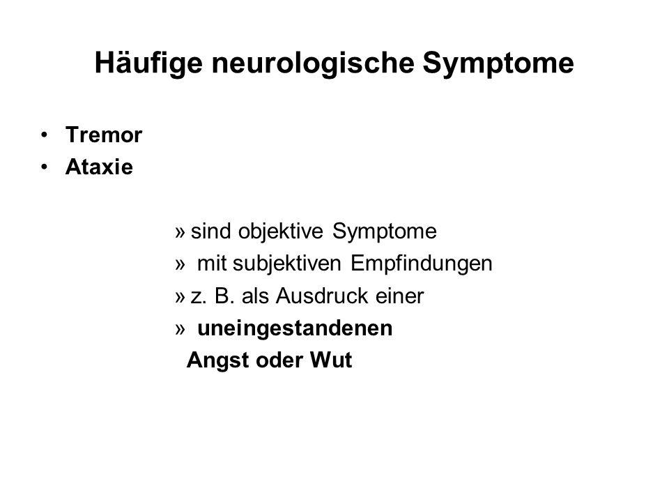 Häufige neurologische Symptome