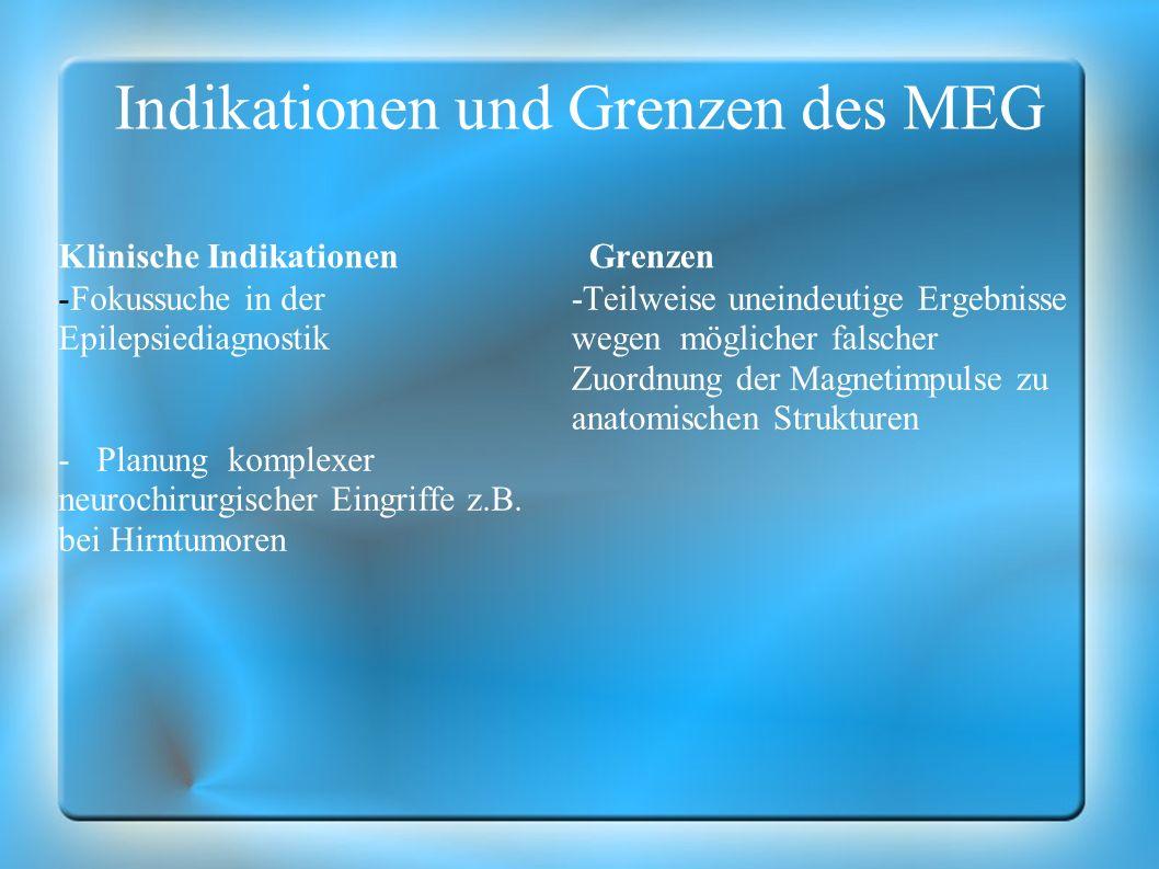 Indikationen und Grenzen des MEG