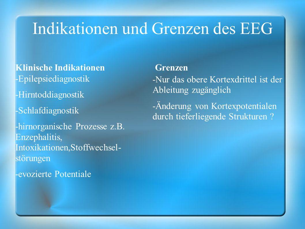 Indikationen und Grenzen des EEG