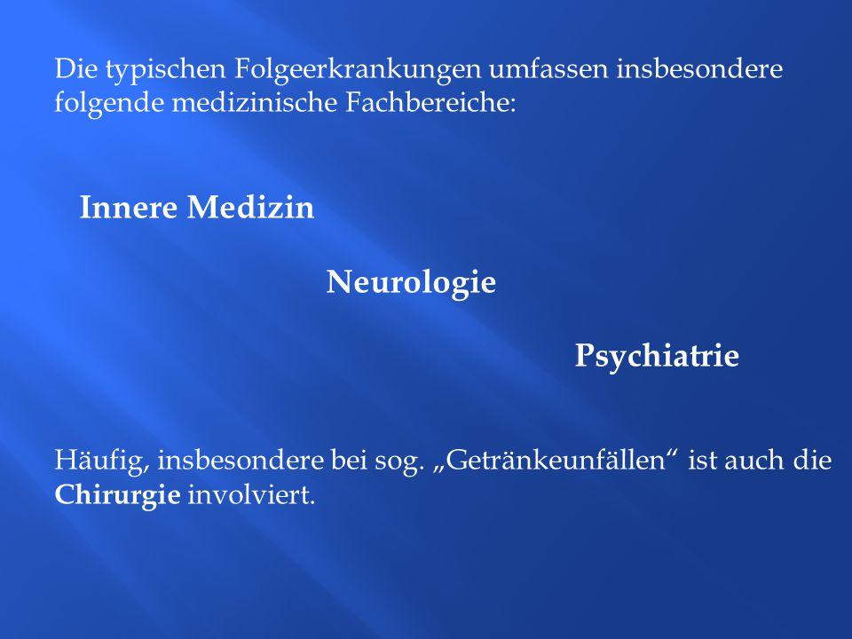 Innere Medizin Die typischen Folgeerkrankungen umfassen insbesondere