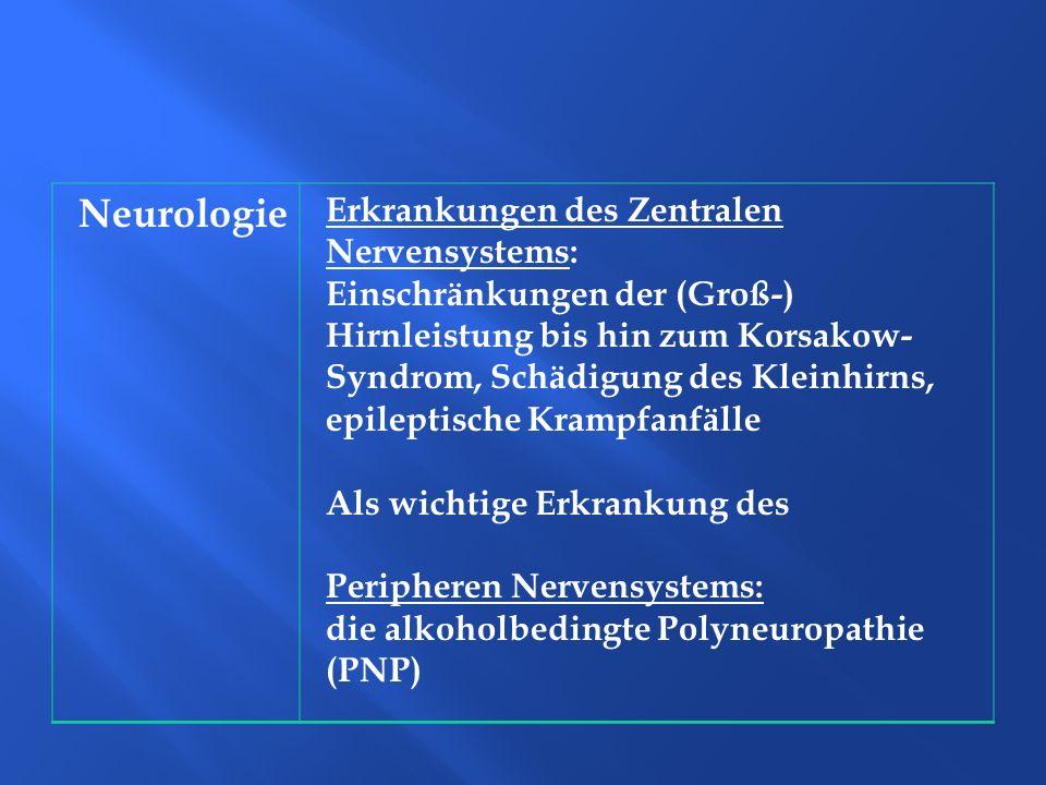Neurologie Erkrankungen des Zentralen Nervensystems: