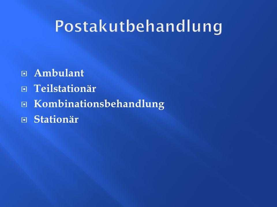 Postakutbehandlung Ambulant Teilstationär Kombinationsbehandlung