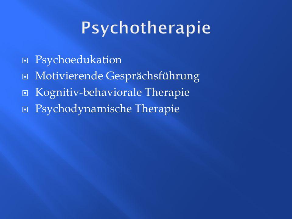 Psychotherapie Psychoedukation Motivierende Gesprächsführung