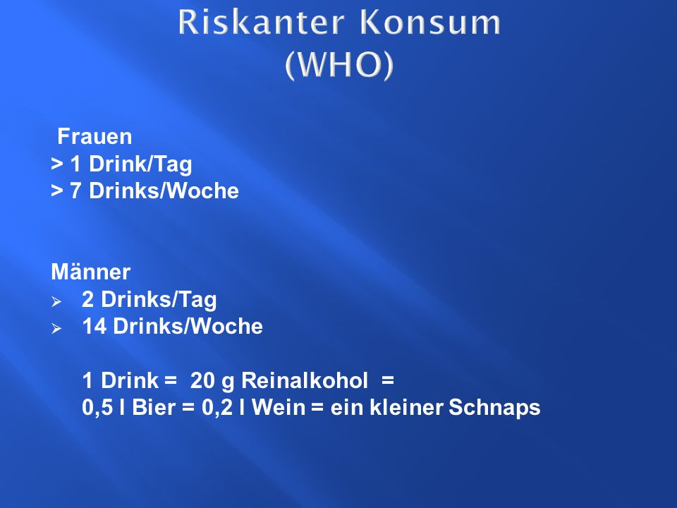 Riskanter Konsum (WHO)