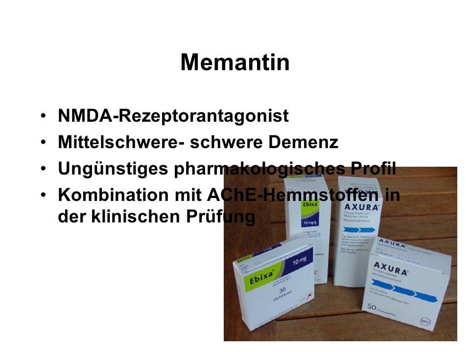 Memantin NMDA-Rezeptorantagonist Mittelschwere- schwere Demenz