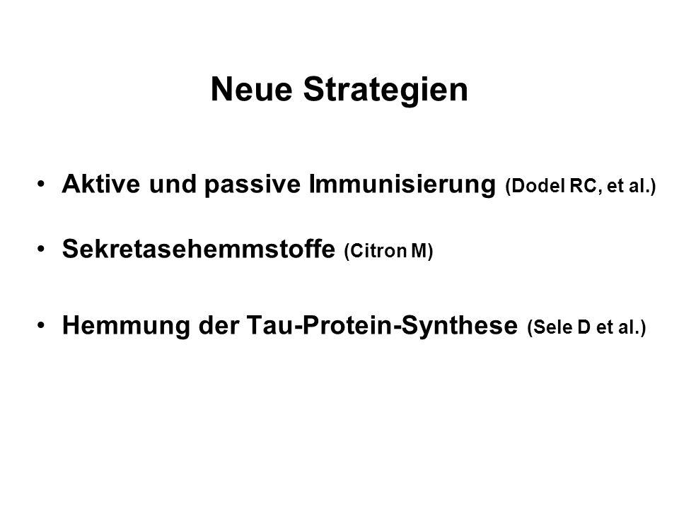 Neue Strategien Aktive und passive Immunisierung (Dodel RC, et al.)