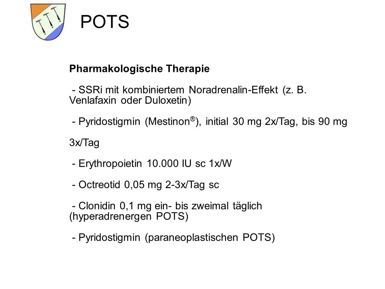 POTS Pharmakologische Therapie