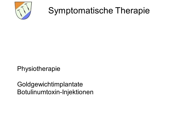 Symptomatische Therapie