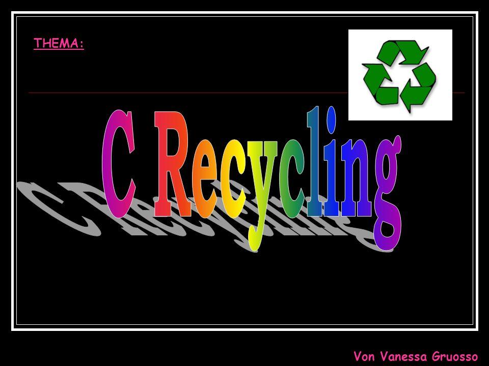 THEMA: C Recycling Von Vanessa Gruosso