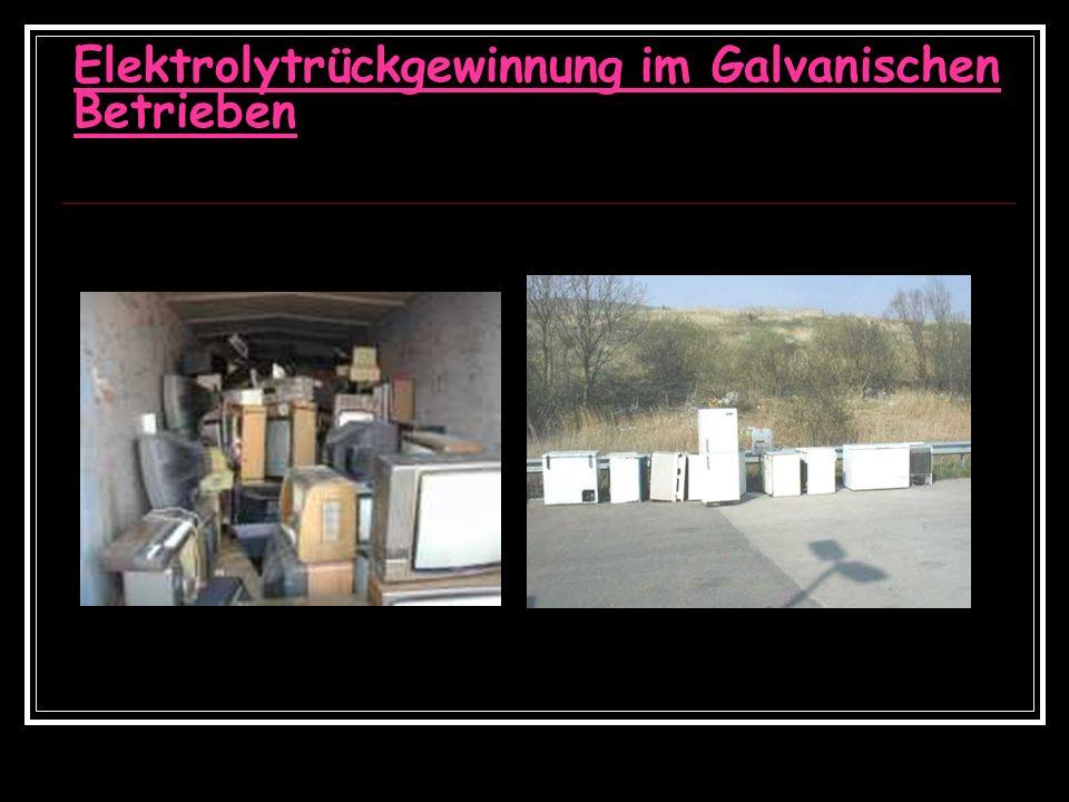 Elektrolytrückgewinnung im Galvanischen Betrieben