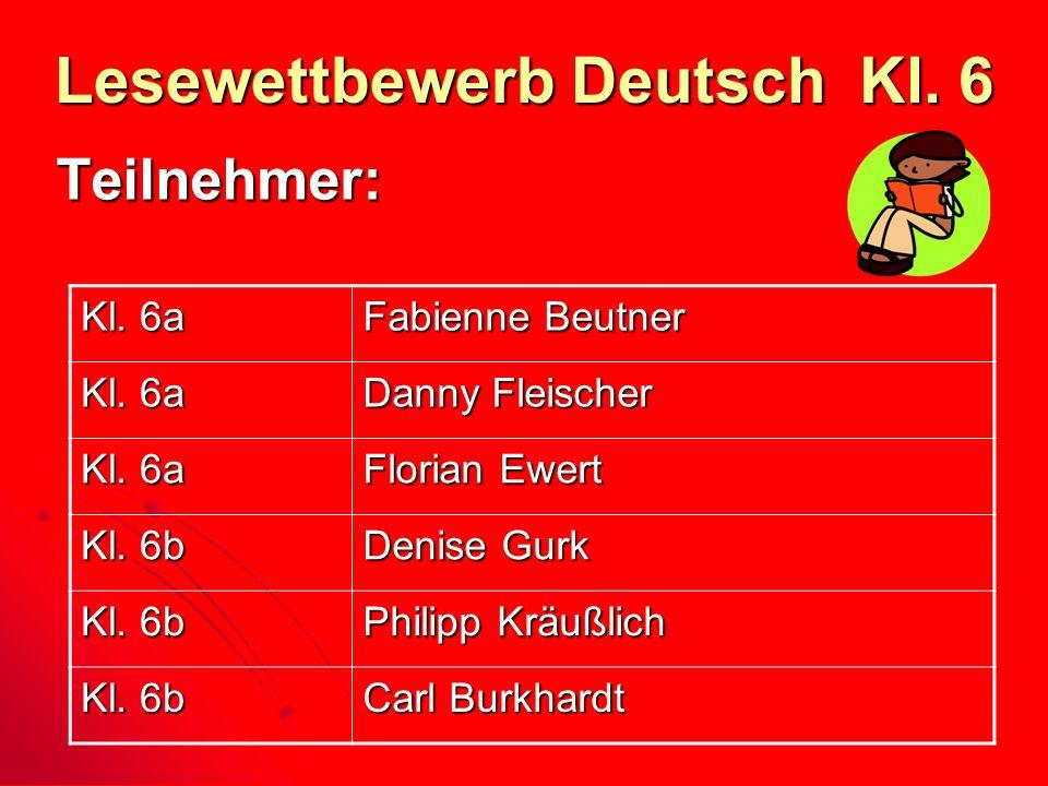 Lesewettbewerb Deutsch Kl. 6
