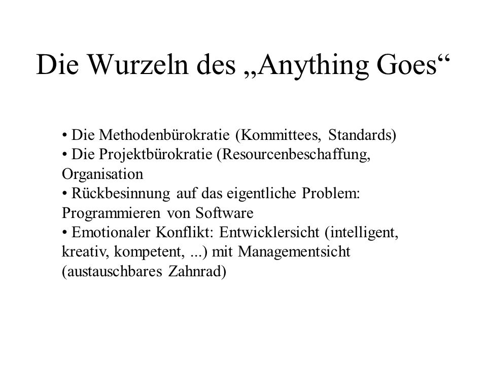 "Die Wurzeln des ""Anything Goes"