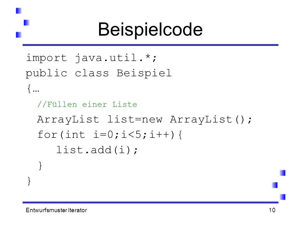 Beispielcode import java.util.*; public class Beispiel {…