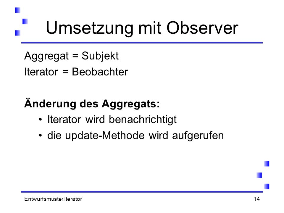 Umsetzung mit Observer