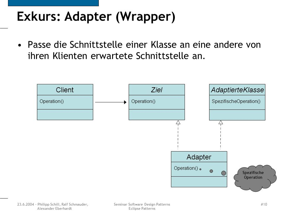 Exkurs: Adapter (Wrapper)