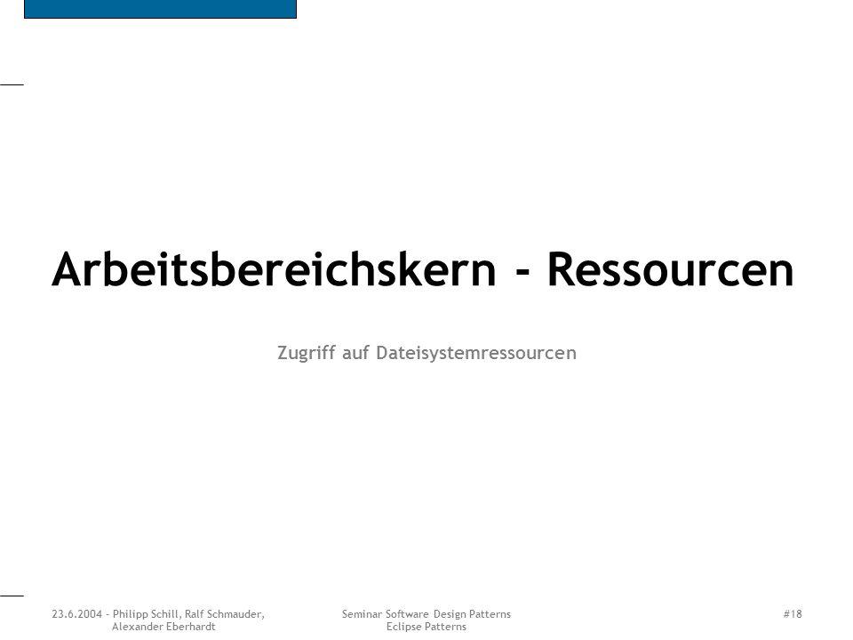 Arbeitsbereichskern - Ressourcen