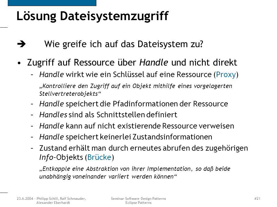 Lösung Dateisystemzugriff