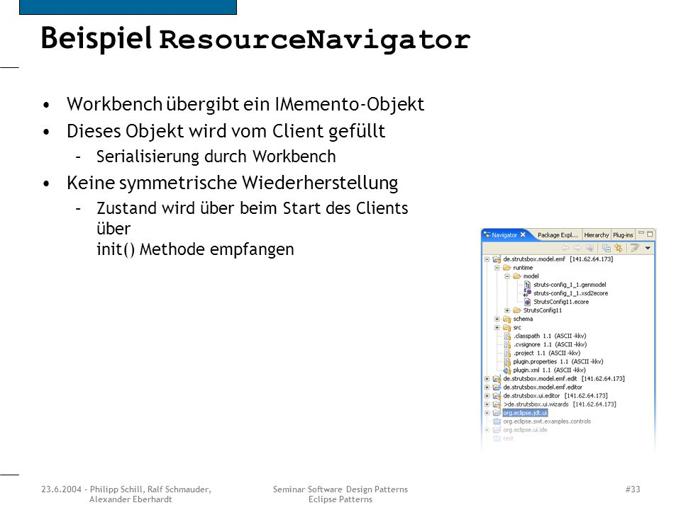 Beispiel ResourceNavigator