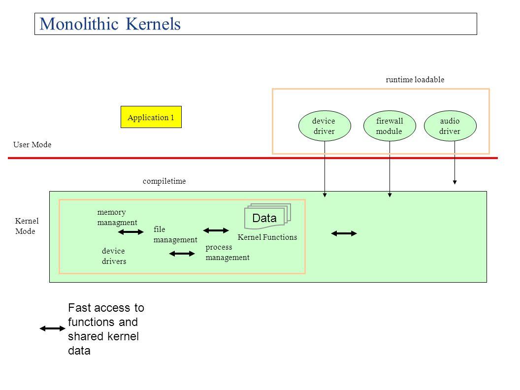 Monolithic Kernels Data