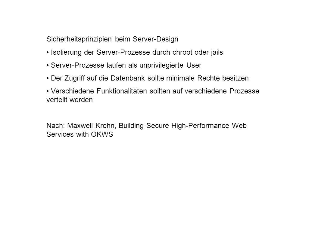Sicherheitsprinzipien beim Server-Design
