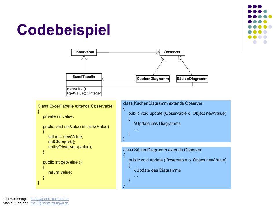 Codebeispiel Dirk Winterling dw08@hdm-stuttgart.de