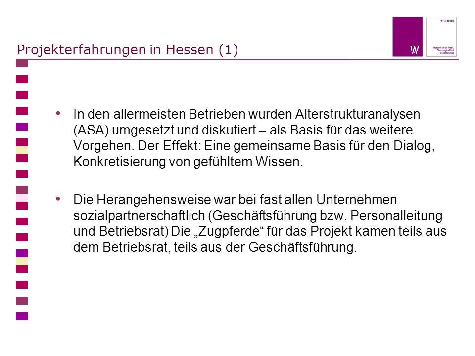 Projekterfahrungen in Hessen (1)