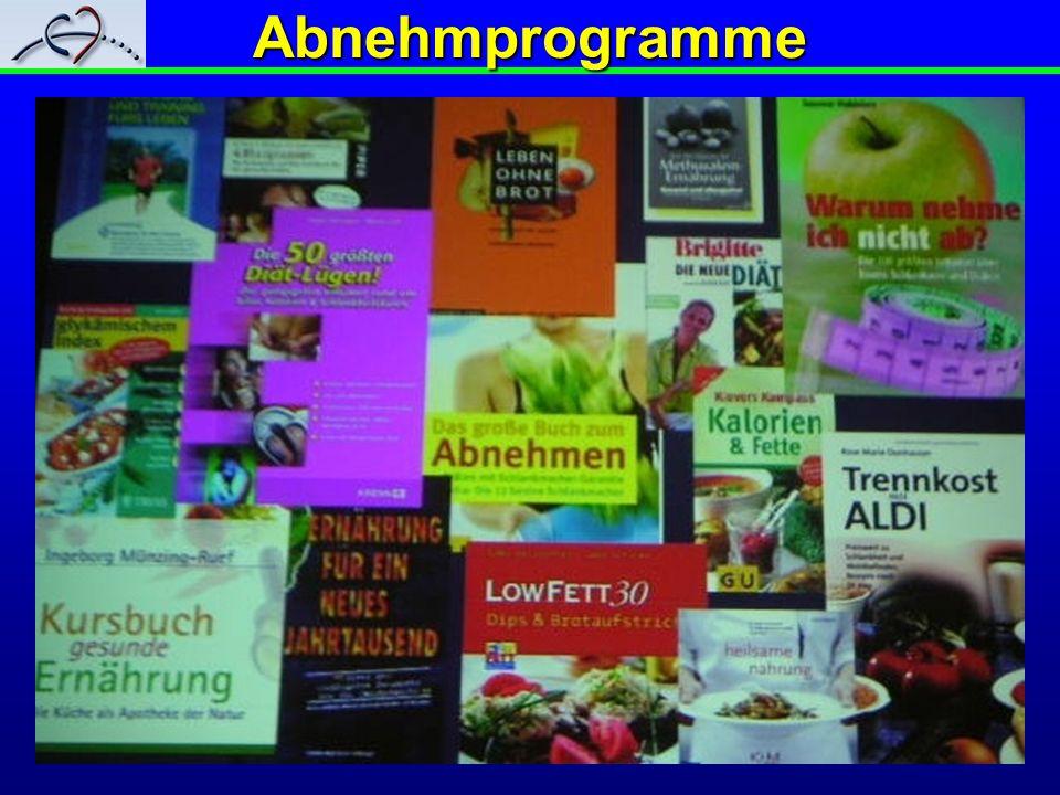 Abnehmprogramme Über 50 % der Deutschen sind zu dick, 12 % echt fettleibig.