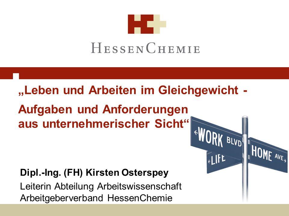 """""""Leben und Arbeiten im Gleichgewicht - Aufgaben und Anforderungen aus unternehmerischer Sicht"""