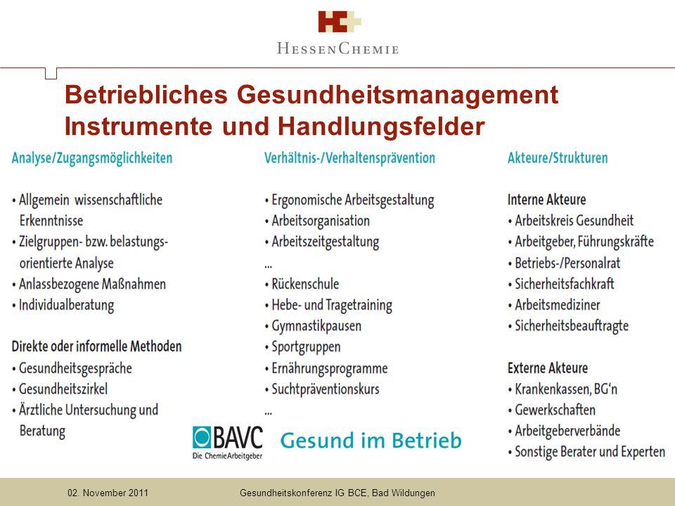Betriebliches Gesundheitsmanagement Instrumente und Handlungsfelder