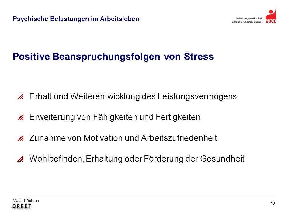 Positive Beanspruchungsfolgen von Stress