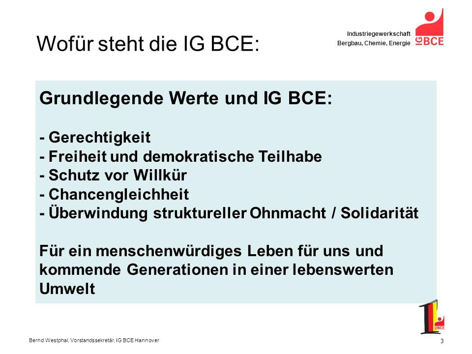 Wofür steht die IG BCE: Grundlegende Werte und IG BCE: