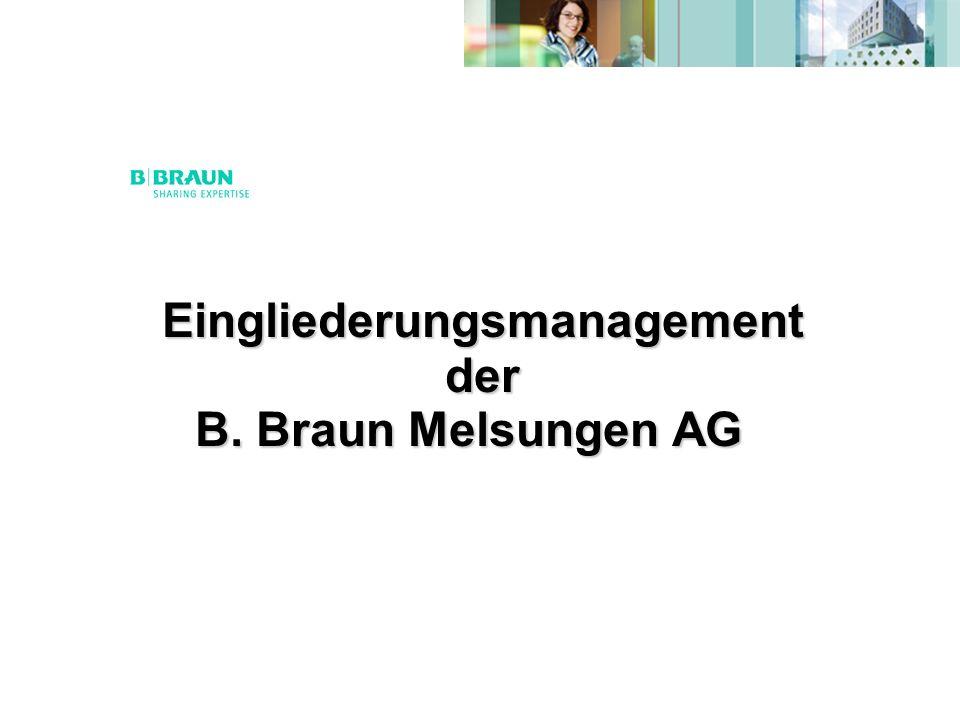 Eingliederungsmanagement der B. Braun Melsungen AG