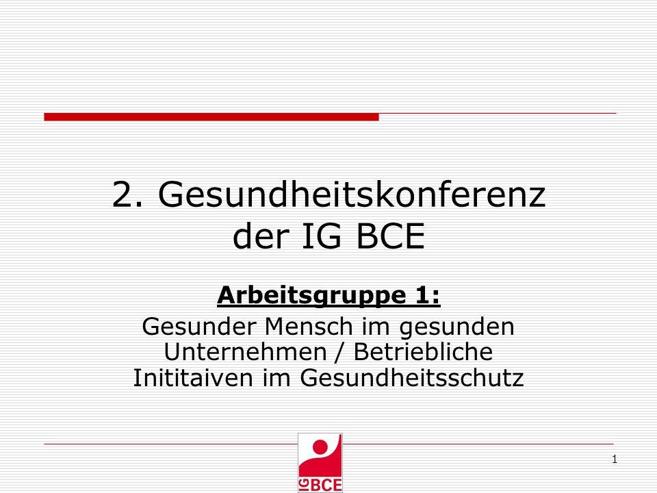2. Gesundheitskonferenz der IG BCE