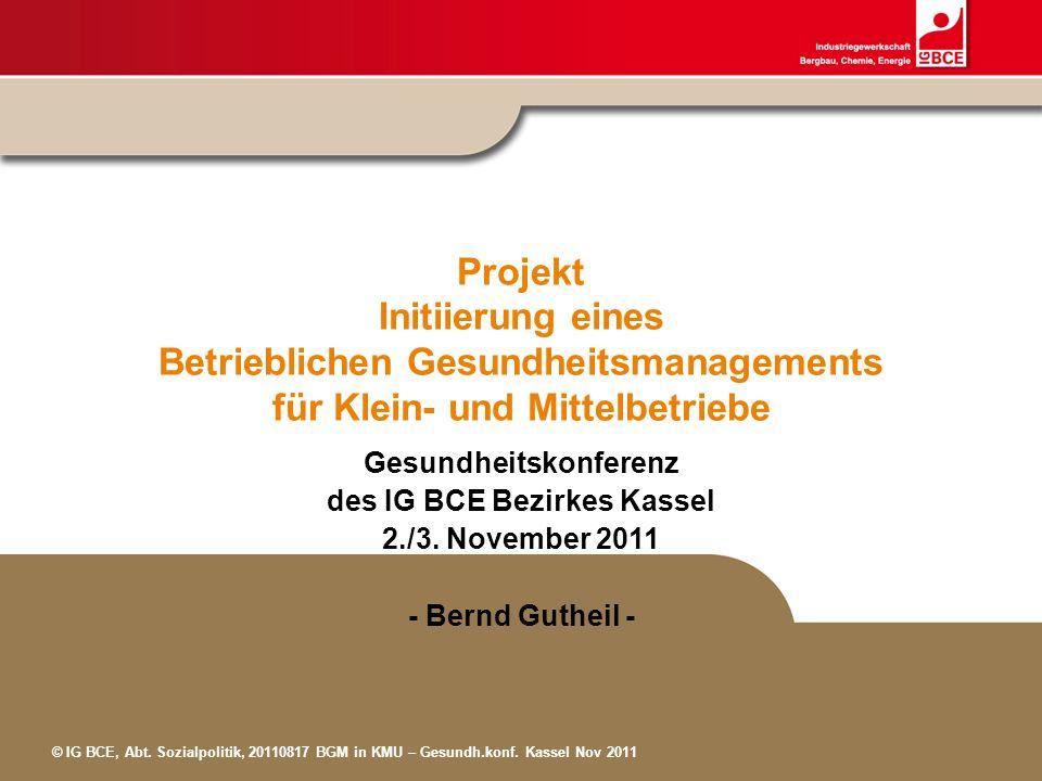 Gesundheitskonferenz des IG BCE Bezirkes Kassel
