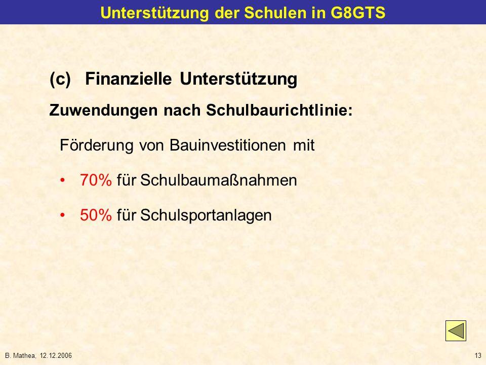 Unterstützung der Schulen in G8GTS