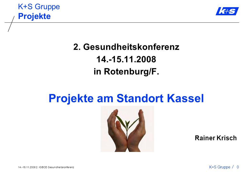 2. Gesundheitskonferenz Projekte am Standort Kassel