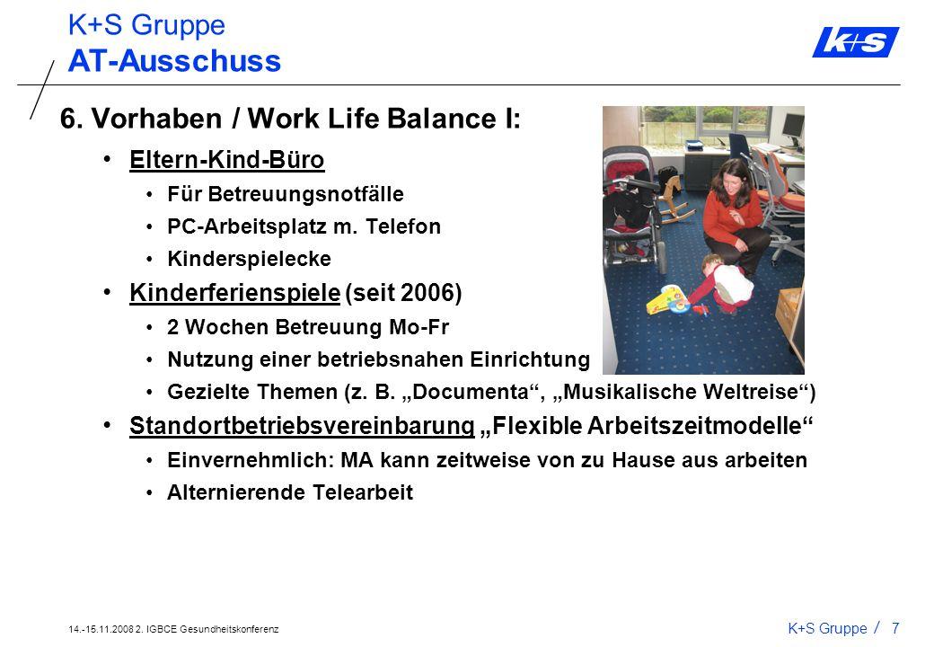 AT-Ausschuss K+S Gruppe 6. Vorhaben / Work Life Balance I:
