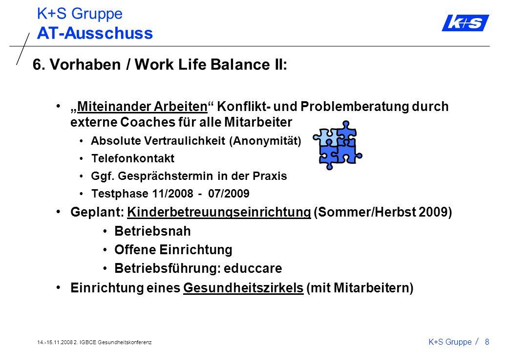 AT-Ausschuss K+S Gruppe 6. Vorhaben / Work Life Balance II: