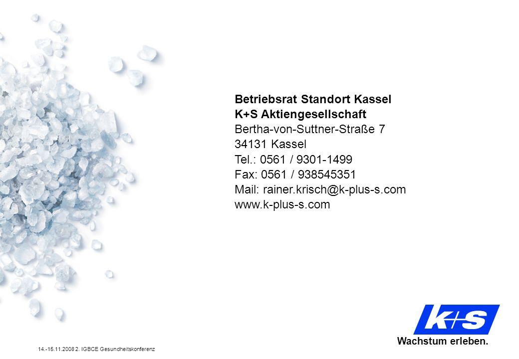 Betriebsrat Standort Kassel K+S Aktiengesellschaft