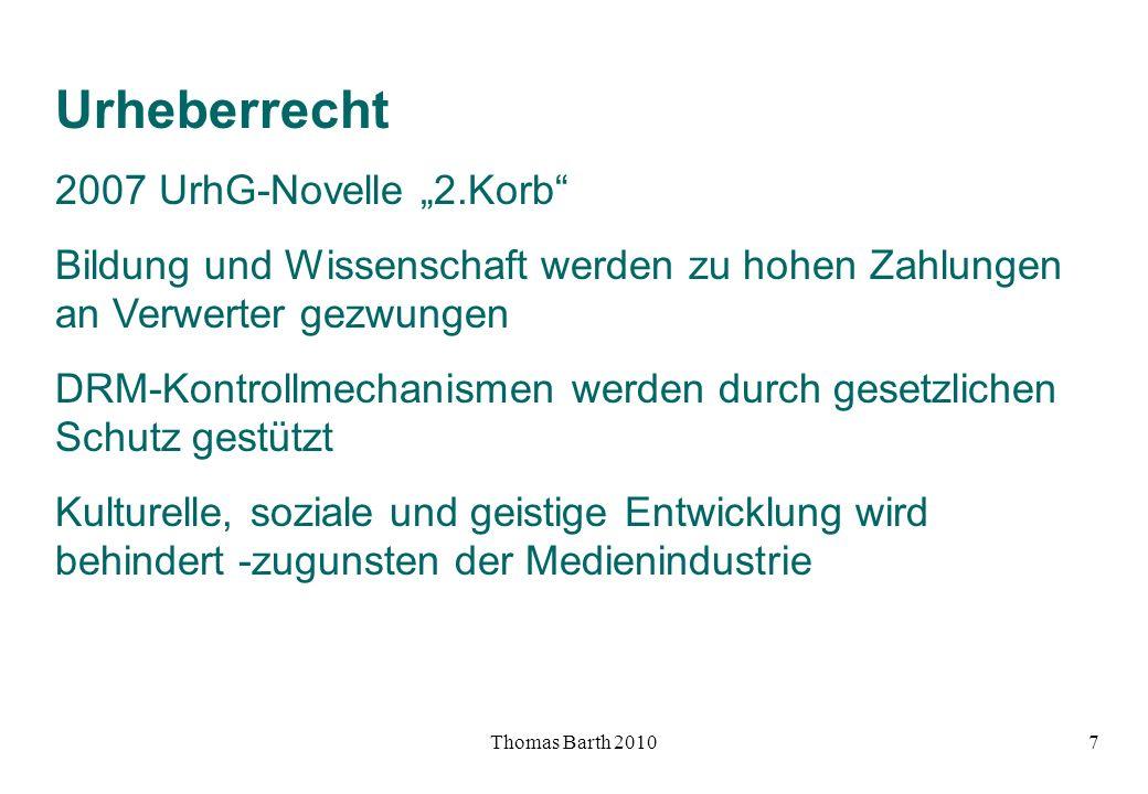 """Urheberrecht 2007 UrhG-Novelle """"2.Korb"""