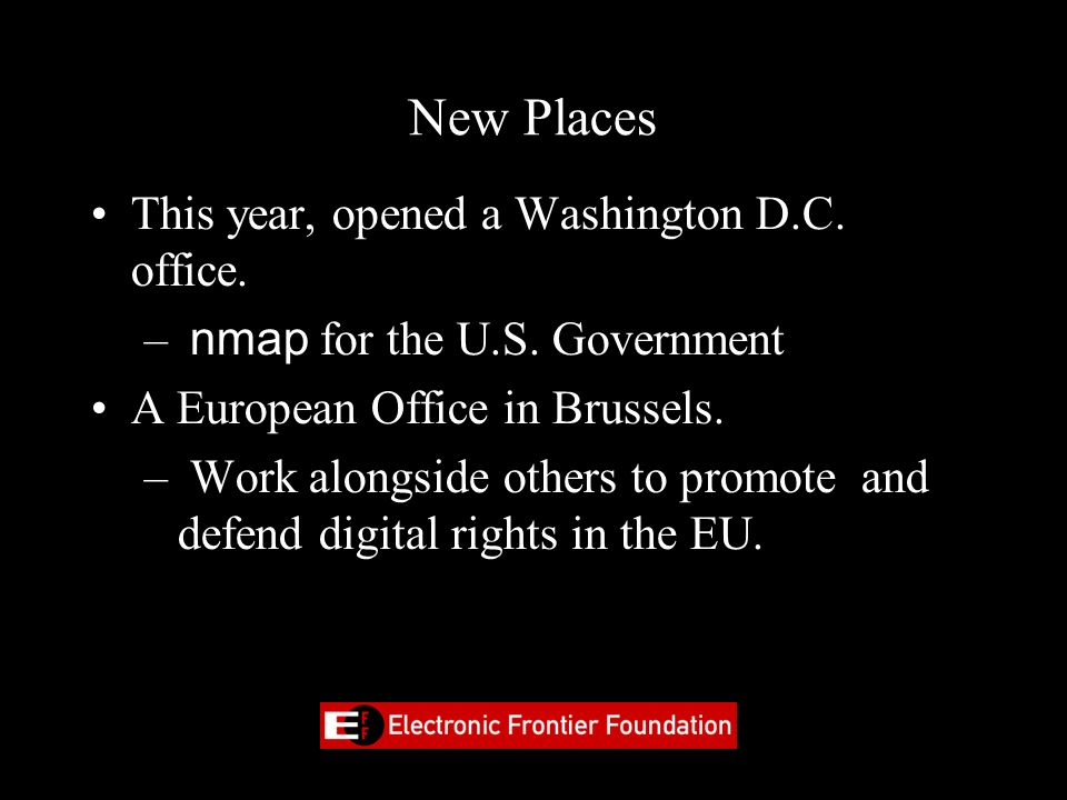 New Places This year, opened a Washington D.C. office.