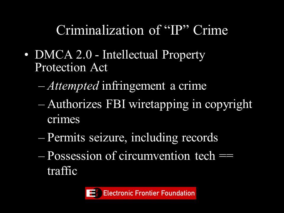 Criminalization of IP Crime