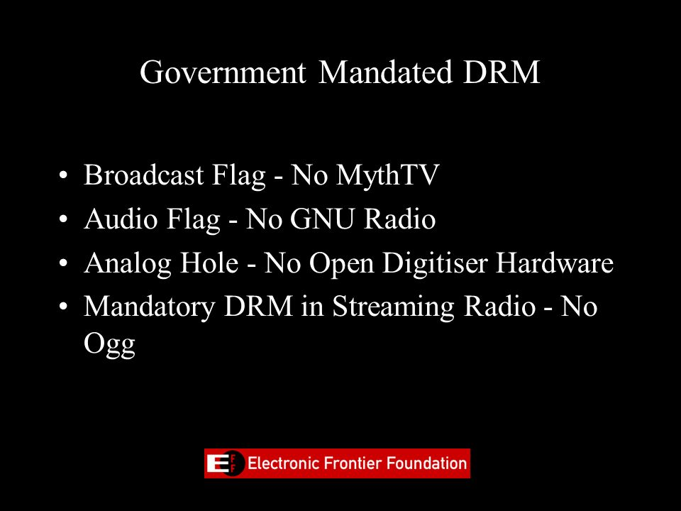 Government Mandated DRM