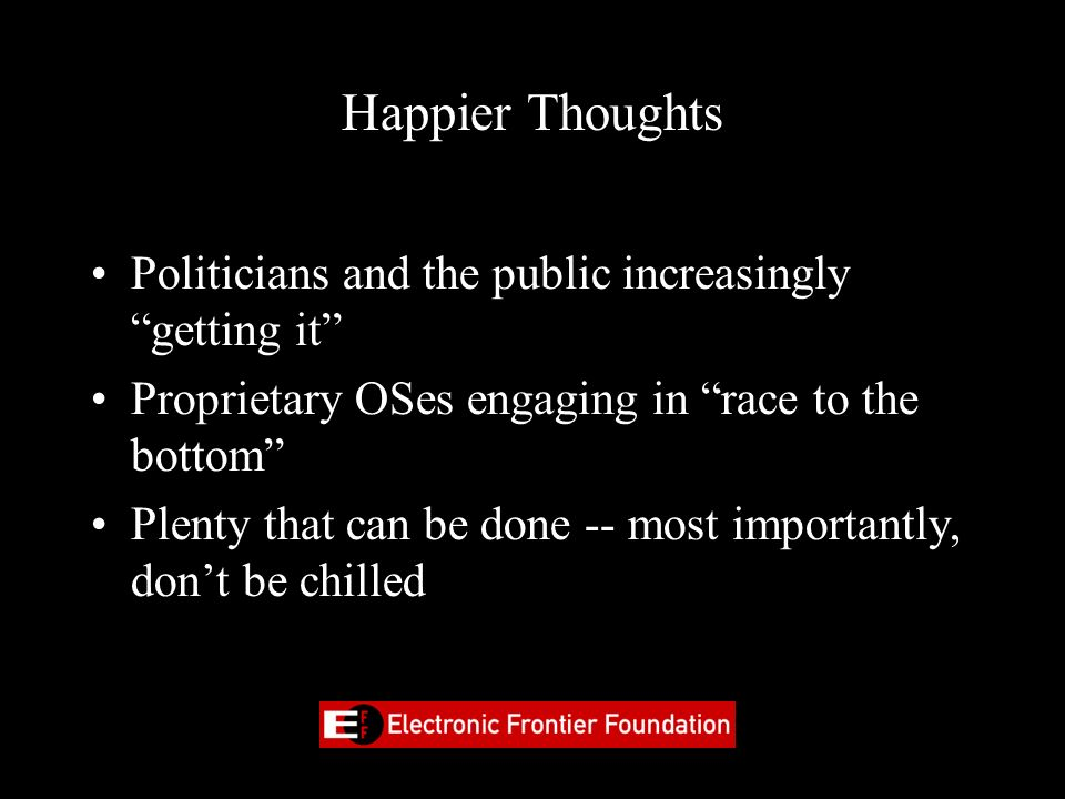 Happier Thoughts Politicians and the public increasingly getting it