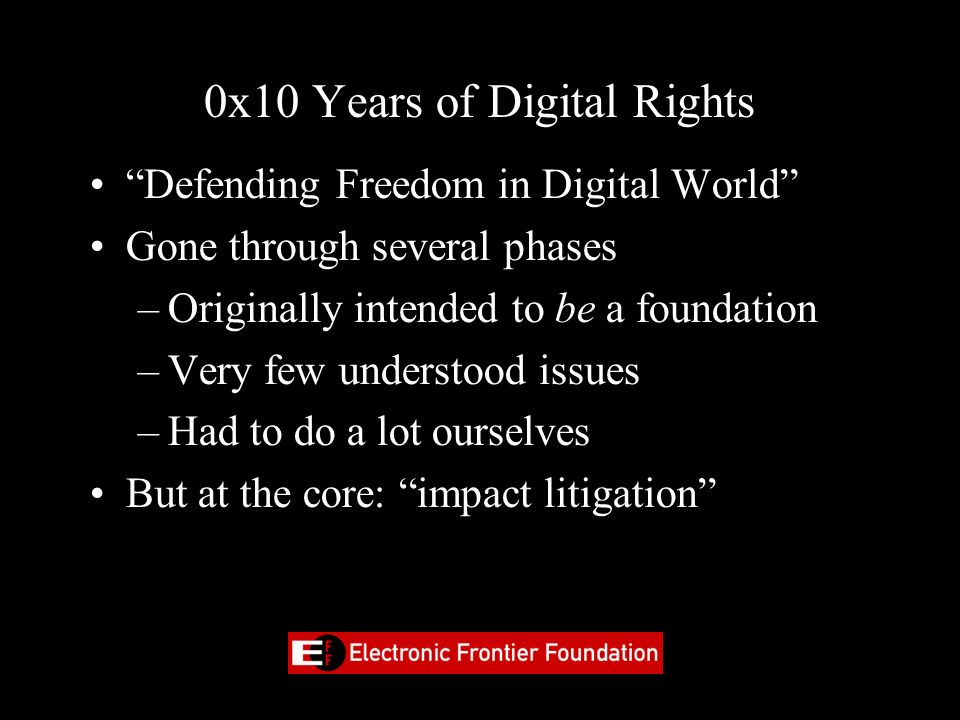 0x10 Years of Digital Rights