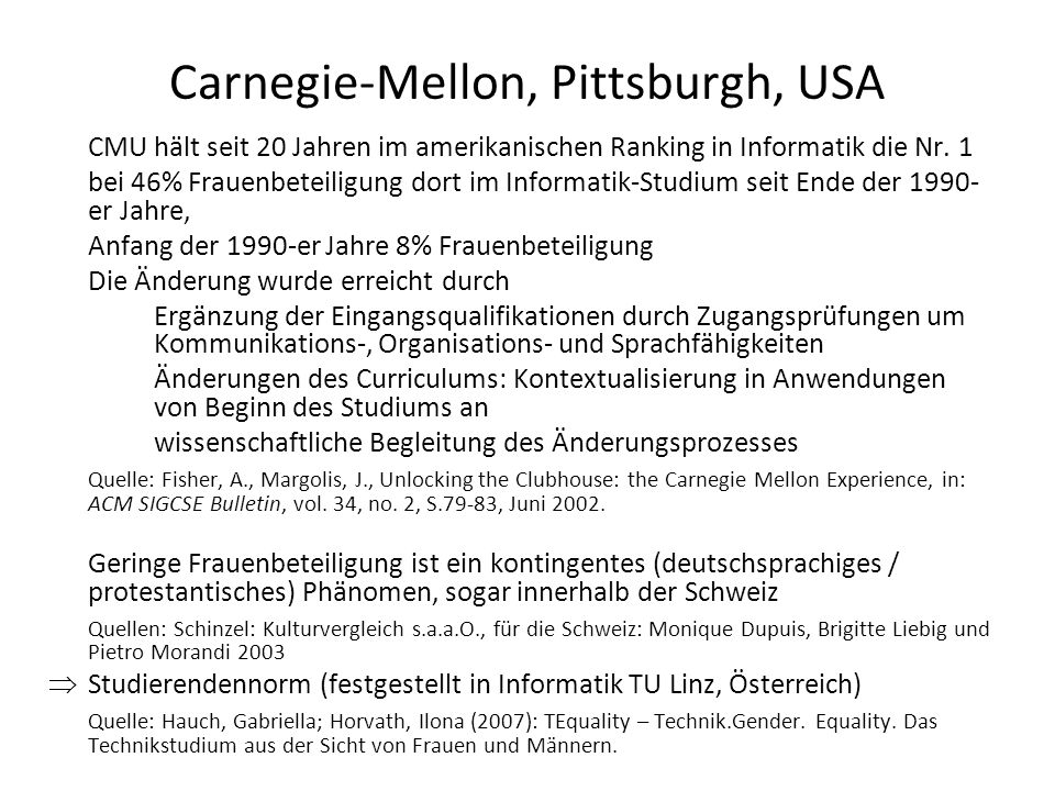 Carnegie-Mellon, Pittsburgh, USA