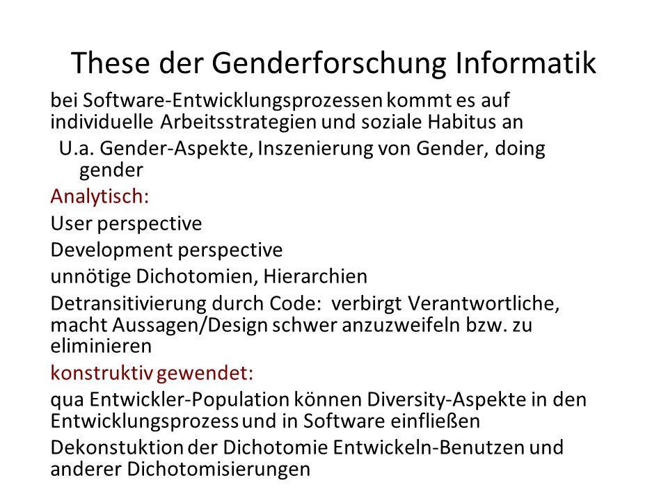 These der Genderforschung Informatik